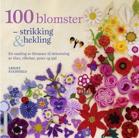 100 blomster - strikking & hekling