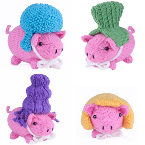 Amigurumi Pigs with Wigs