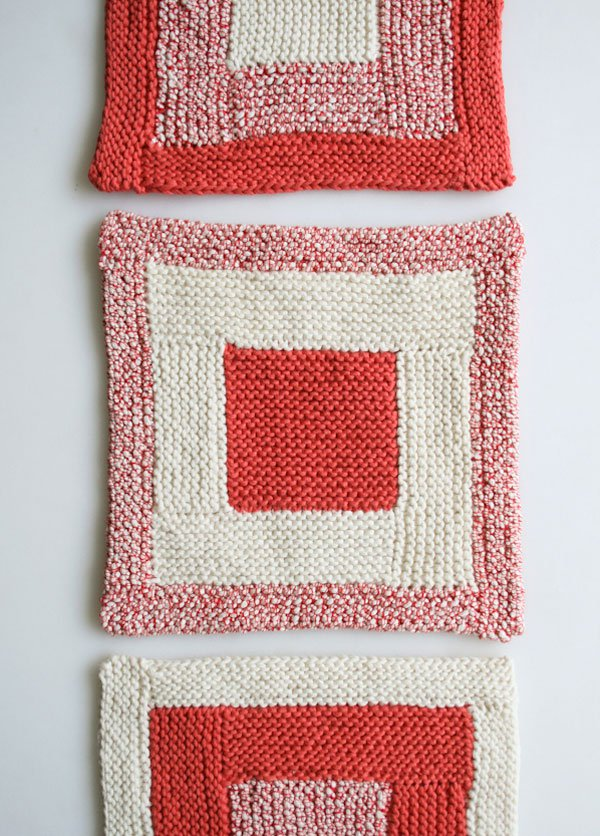 Log Cabin Washcloths