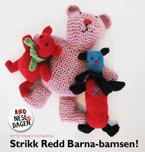 Redd Barna Strikk en bamse