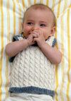 Cabled Baby Vest