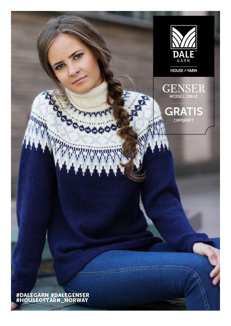 gratis strikkeoppskrifter genser enkel