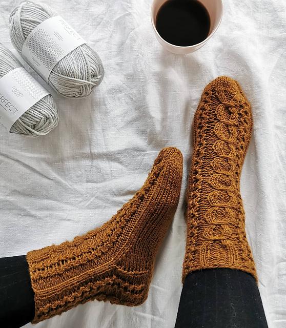 Perleblomst sokker