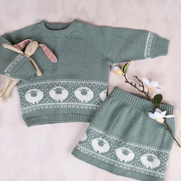 Billebæ genser og skjørt